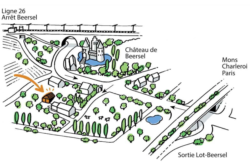 plan d'accès aux Ateliers Imagine